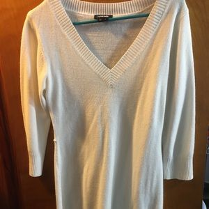 Mid white sweater dress